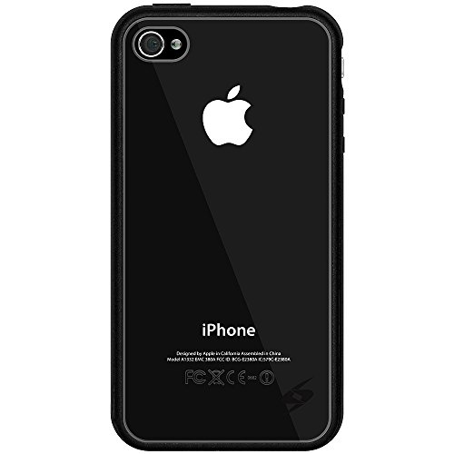 Amzer SlimGrip Hybrid-Schutzhülle für iPhone 4S, Schwarz