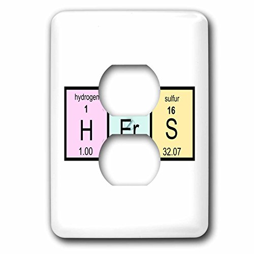 InspirationzStore Periodic Tables - Hers in Periodic Table of Elements symbols - half of mr and mrs set - Light Switch Covers - 2 plug outlet cover (lsp_233061_6) by 3dRose