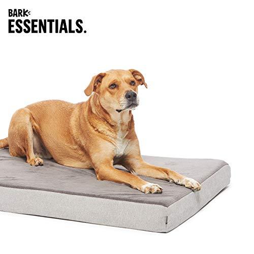 BarkBox X-Large Jumbo Gray Plush Orthopedic Memory Foam Dog Bed or Crate Mat | Removable Washable Cover - Free Surprise! by BarkBox (Image #6)