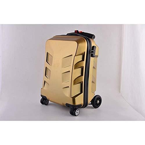 Reclain 多機能スケートボードローリング荷物パスワードスーツケースホイール 20 インチクリエイティブキャビントロリーコンピュータ旅行バッグ B07R2LYMYK ゴールド 20\
