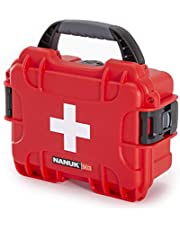 Nanuk 903 Waterproof First Aid Prepper Survival Gear Dust and Impact Resistant Case - Empty - Red