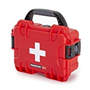 Nanuk 903 Waterproof First Aid Prepper Survival Gear Dust and Impact Resistant Case – Empty – Red