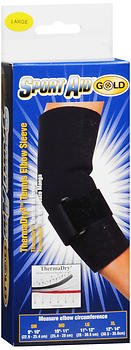 Sport Aid Gold ThermaDry Tennis Elbow Sleeve LG - 1 ea, Pack of 6 by SportAid