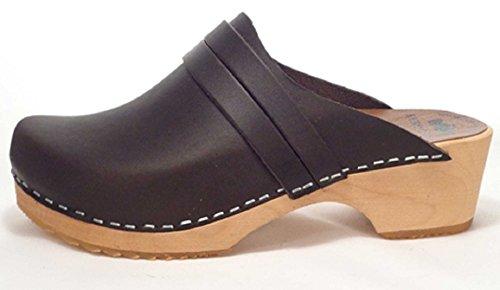 Skola Womens Annika Clog , Black, Size 37