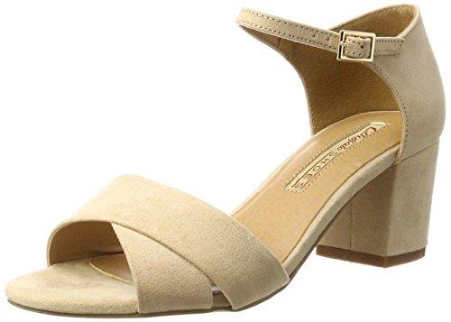 Buffalo Wedge 315267 Bhwmd Suede Beige IMI 01 Nude A16 Women's Beige Sandals Heels O6OwrqRYn