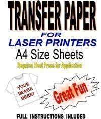 3 opinioni per Fogli di carta transfer per tessuti leggeri, stampabili con stampante laser e
