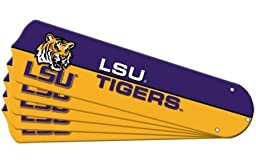 Ceiling Fan Designers 7990-LSU New NCAA LSU TIGERS 52 in. Ceiling Fan Blade Set