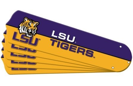 Ceiling Fan Designers 7990-LSU New NCAA LSU TIGERS 52 in. Ceiling Fan Blade Set by Ceiling Fan Designers