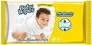Huggies Lenços Umedecidos Baby Wipes Cheirinho de Bebê, 48 toalhas