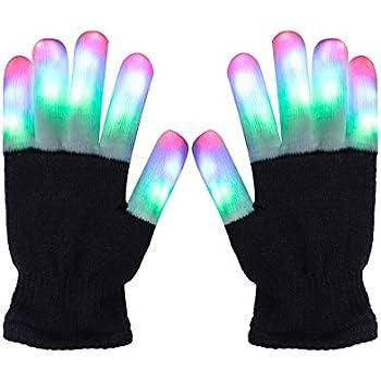 LED Gloves Light Up Rave Gloves Finger Light Gloves Novelty Toy 6 Adjust Mode (Finger Light Gloves(Kid Size))  sc 1 st  Amazon.com & DX DA XIN LED Gloves Light up Rave Gloves Finger Light Gloves ...