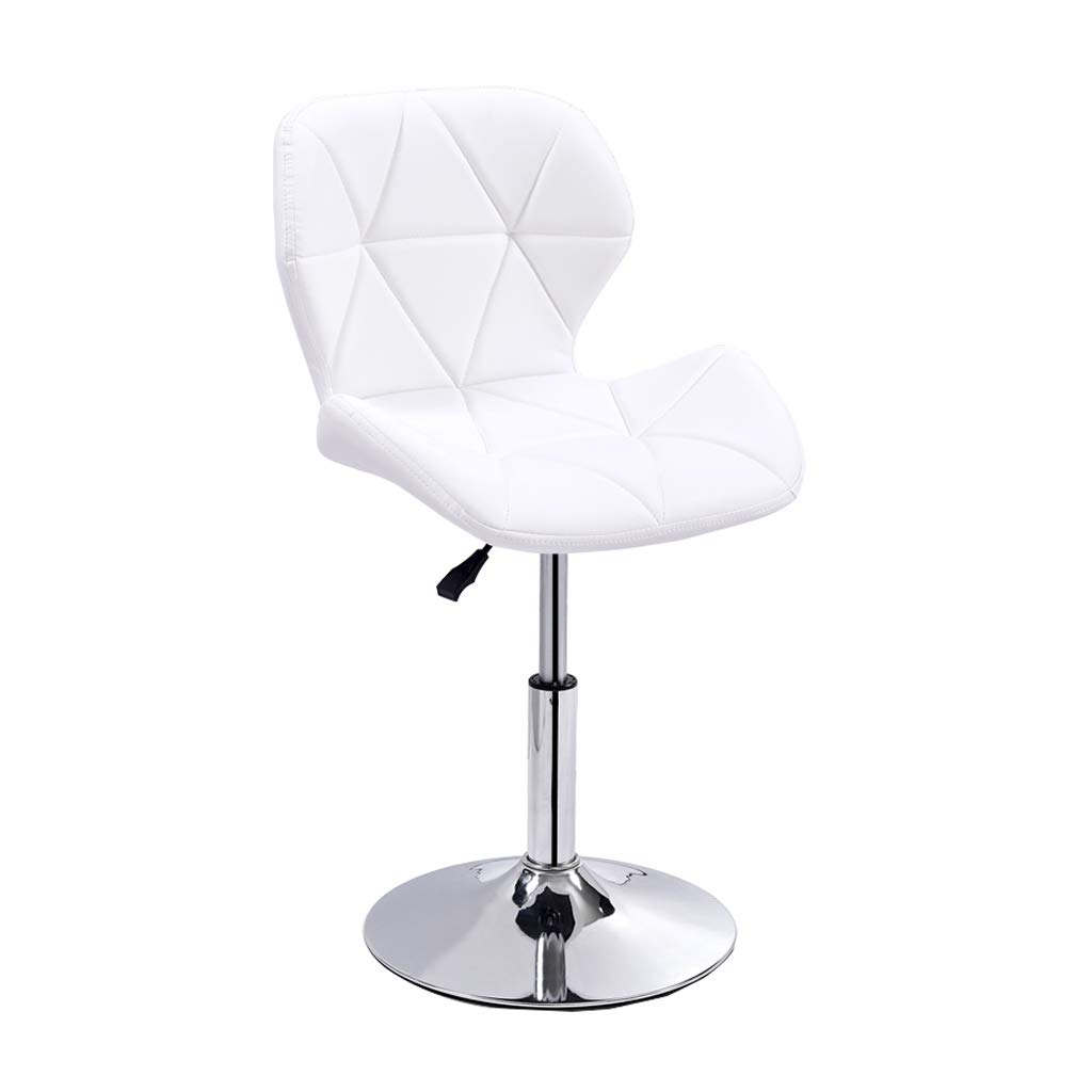 4 Bar Stools Chair with Backrest PU Seat Adjustable Swivel High Stool for Breakfast Counter Kitchen and Home Barstools Max Load 150 Kg