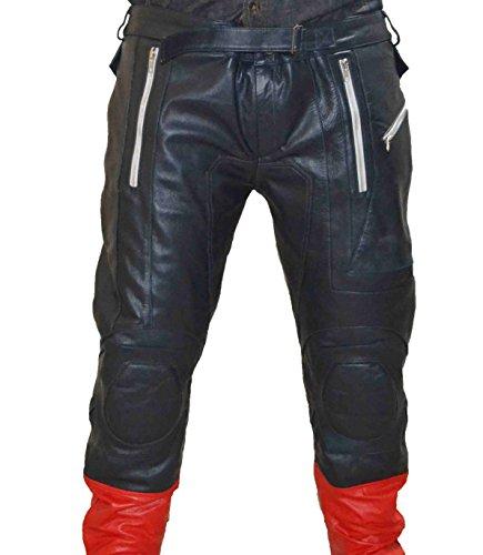 MSHC Captain America Avengers Cow Hide Leather Pants (4XL) CA1 PS Blue (Captain America Costume Walmart)