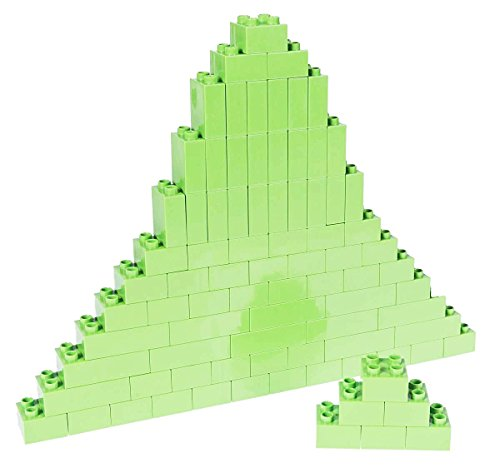 Strictly Briks Classic Big Briks by Building Brick Set 100% Compatible with All Major Brands | 3 Large Block Sizes For Ages 3+ | Premium Lime Green Building Bricks | 84 Pieces