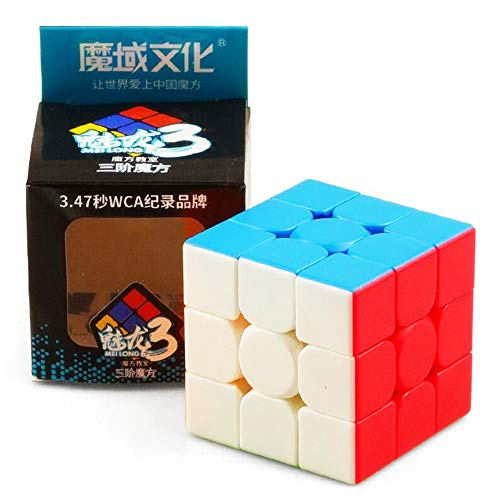CuberSpeed Moyu MoFang JiaoShi Meilong 3x3x3 stickerless Magic Cube MFJS MEILONG 3X3 Cubing Classroom Meilong 3X3 Speed Cube (Updated Version MeiLong 3C)