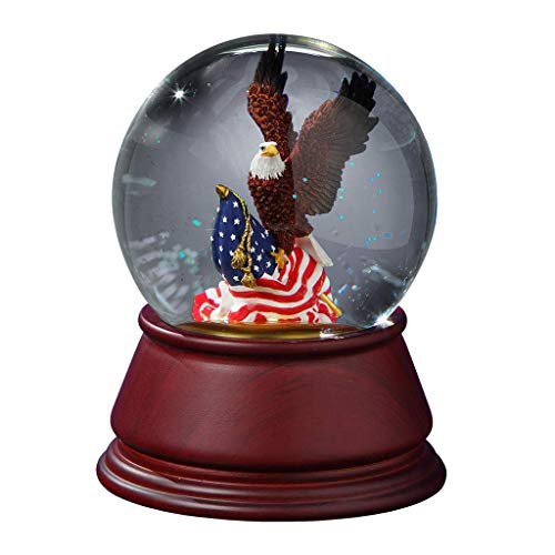 - The San Francisco Music Box Company American Eagle Musical Water Globe