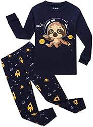 THE Crafts Little Boys Dino Pajamas Set Children PJs 100% Cotton Sleepwear