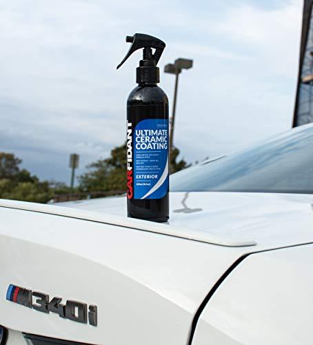 Carfidant Ceramic Coating Spray Car Wax - Ultimate Ceramic Coating Spray - SiO2 Car Wax Spray - Waterless Car Wash Wax & Polish - Hydrophobic Paint Sealant