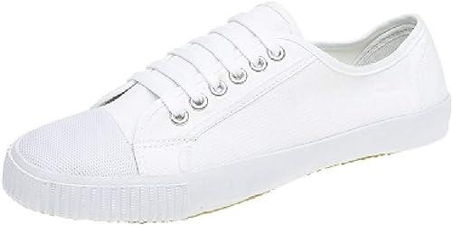 Dek Retro Toecap Lace Plimsolls White