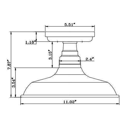 Design House 519884 Kimball 1 Light Semi Flush Mount Ceiling Light, Bronze by Design House (Image #2)