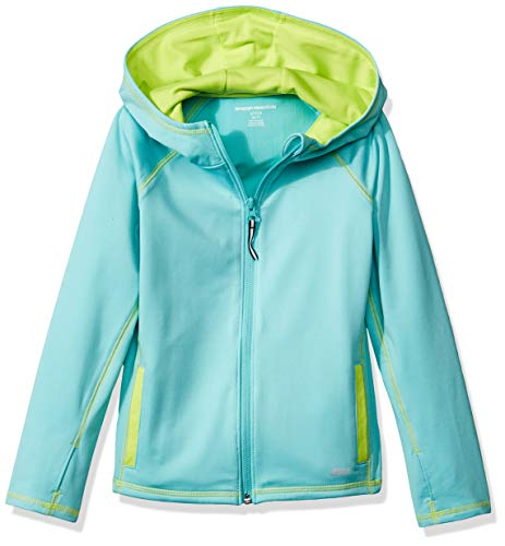 Amazon Essentials    Girls' Full-Zip Active Jacket, Aqua, XS (4-5)]()