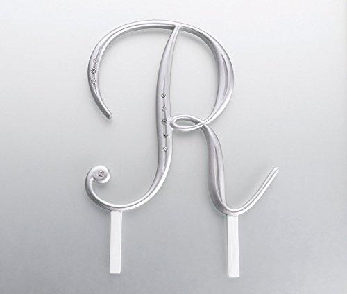 Lillian Rose Rhinestone, Monogram Cake Topper Letter R ()