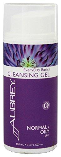 Aubrey Organics EveryDay Basics Cleansing Gel SIMPLE 2 STEP NATURAL SKIN CARE REGIMEN for Normal/Oily Skin - 3.4oz (Organics Eucalyptus Aubrey)