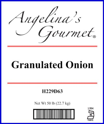 Onion, Granulated - 50 Lb Bag / Box Each by Woodland Ingredients