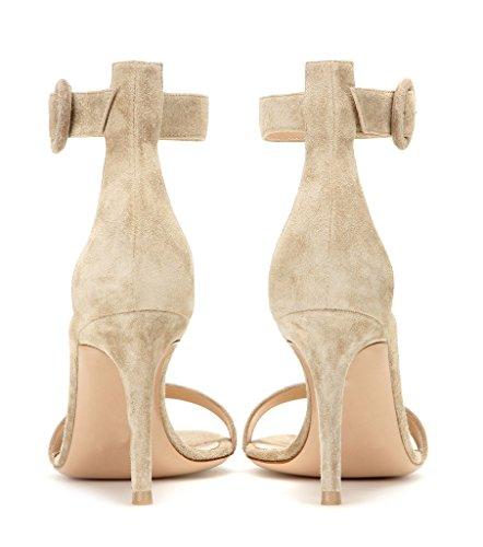 EDEFS - Zapatos con tacón Mujer Camel-SL
