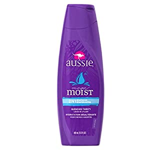 Aussie Moist 2-In-1 Shampoo 13.5 Fl Oz (Pack of 6)