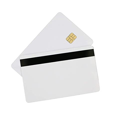 50pcs//Lot PVC Blank Card  2 in1 FM4442 Chip with Hi-Co Magnetic Stripe Printable