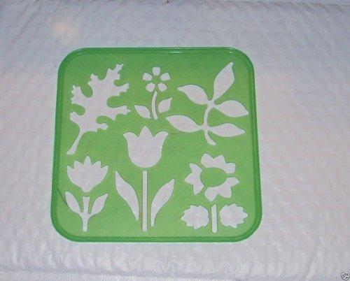 Tupperware Stencil Art Replacement Plants Theme Green #1941 ()