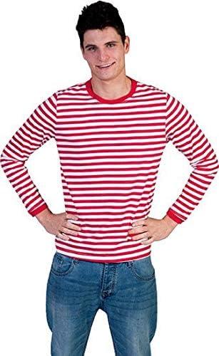 Camiseta de rayas rojas de estilo gondolero rojo Small: Amazon.es ...