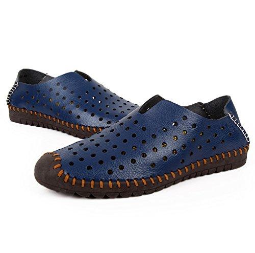 YiLianDa Hombre Zuecos de Playa Respirable Zapatillas Ahueca Hacia las Sandalias Azul