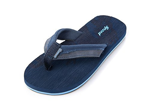 Picture of Just Speed Flip-Flops Sandals Eagle Cool Soft Slide On Summer Comfortable Light Casual Travel Vacation Sand Pool Indoors (13, Blue)
