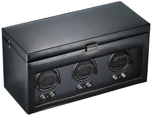 - WOLF 270502 Heritage Module 2.1 Triple Watch Winder with Cover and Storage