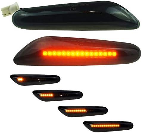 DoLED dynamische LED Seitenblinker Laufblinker schwarz black smoked mit E-Pr/üfzeichen