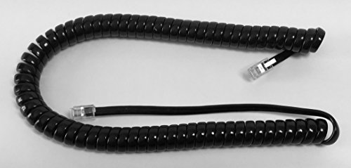 Replacement Cord Coil (The VoIP Lounge Replacement 9 Ft Black Handset Receiver Curly Coil Cord for at&T/Lucent / Avaya Merlin Business Phone)