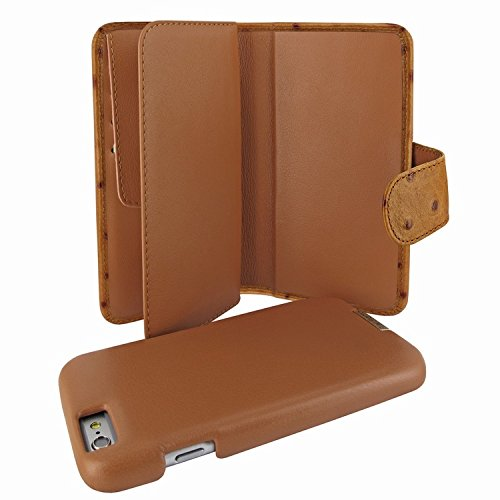 Piel Frama 717 Tan Ostrich WalletMagnum Leather Case for Apple iPhone 6 Plus / 6S Plus by Piel Frama (Image #1)