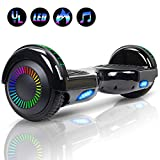 Felimoda 6.5' Hoverboard for Kids and Adult Two-Wheel Self-Balancing Scooter- UL2272 Certificated, withColorful RGB Flash LED Lights