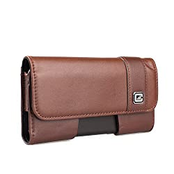 Case123® Mps Mk Ii Tls Premium Genuine Cowhide Leather Oversized Vertical Swivel Belt Clip Holster For Apple Iphone 6 6s 4 7 In Screen For Use With Apple Leather Case Incipio Feather Incipio Ngp Tpu Covers And More Dark Cognac Cowhide