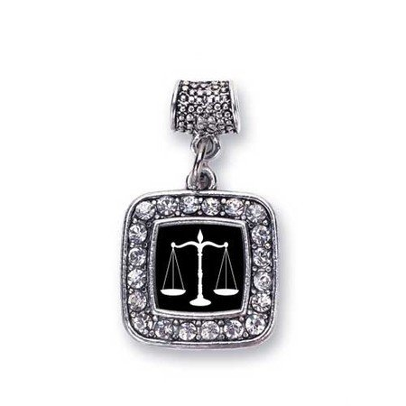 Scale of Justice Lawyer, Judge & Law Student Charm Fits Pandora Bracelets & Compatible with Most Major Brands such as Chamilia, Murano, Troll, Biagi and other European Bracelets