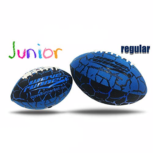 - Small Blue Football for Kids Let's Play Football in The Water Our Ball is All Weather Inflatable Soft and Delicate for an Easy Catch and Throw. Great Choice for Kids to Learn Gift (Junior, Blue)