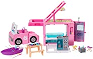 ​Barbie 3-in-1 DreamCamper Vehicle, approx. 3-ft, Transforming Camper with Pool, Truck, Boat and 50 Accessorie