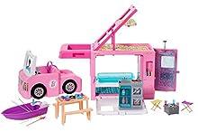 Barbie 3-in-1 DreamCamper - Caravana para Acampar con Piscina, Camioneta, Barca y 50 Accesorios, 3-9 años, color/modelo Surtido (Mattel GHL93)