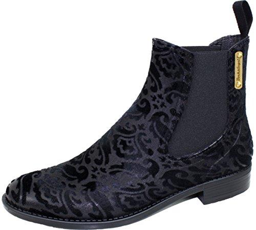 BOCKSTIEGEL® REBECCA Mujer - Medio Botas de Goma con estilo Leopardo (Tallas: 36-41) Black