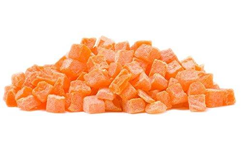 SweetGourmet Dried Diced Papaya | Orange Papaya Pieces | Kosher | 4 Pounds