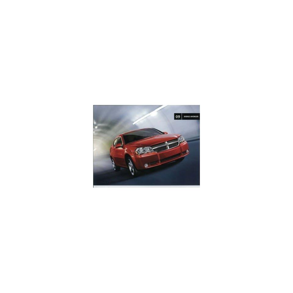 2009 Dodge Avenger Sales Brochure Literature Book Colors Options Specifications