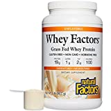 Natural Factors - Whey Factors, 100% Natural Whey Protein, Unflavored, 41 Servings (2 lbs)