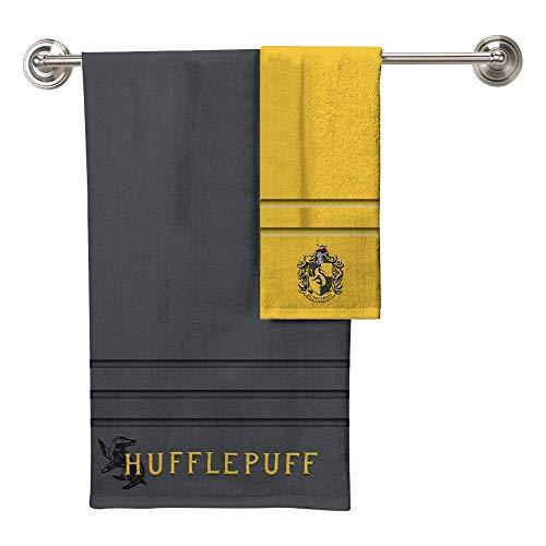 Robe Factory Harry Potter Hufflepuff Bath Towel Hand Towel 2 Piece Set ()