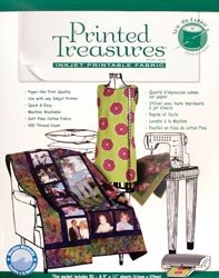 Printed Treasures Inkjet - Printed Treasures Sew-On Ink Jet Fabric Sheets 8.5